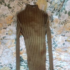 Topshop Olive Green Turtleneck Sweater